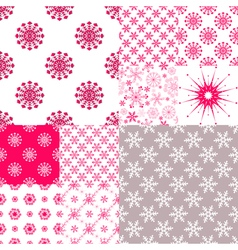 Big set seamless pattern vector image
