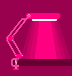 Big table lamp icon flat style vector