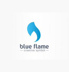 blue flame energy creative symbol concept power vector image