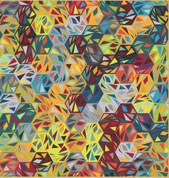 broken hexagon shard triangle funky motif pattern vector image