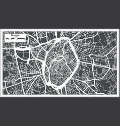 bruges city map in retro style outline map vector image