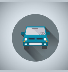 car front view vector image