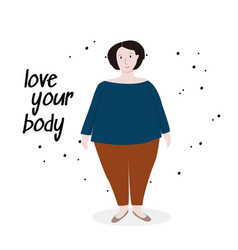 Cartoon character body positive vector