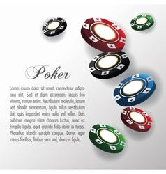 Chips for poker and casino game design vector image vector image