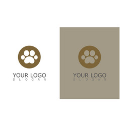 circle leg pet logo vector image