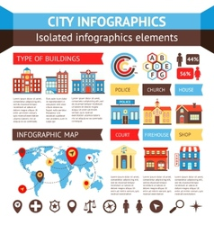 city infographics set vector image
