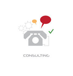 customer consulting support service concept chat vector image