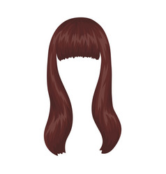 Dark longback hairstyle single icon in cartoon vector