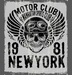 Dead biker tee graphic design vector