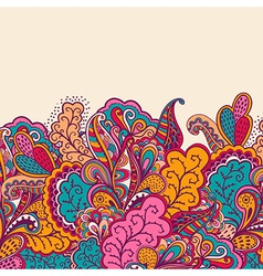 Decorative element border Abstract invitation card vector image
