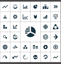 diagram icons universal set for web and ui vector image