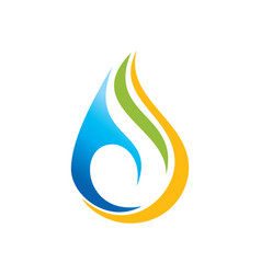 Droplet colored bio eco logo vector
