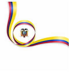 ecuadorian wavy flag background vector image