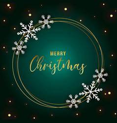 elegant christmas background with snowflake frame vector image