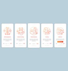 Employee baseline skills onboarding mobile app vector