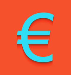 Euro sign whitish icon on brick wall as vector