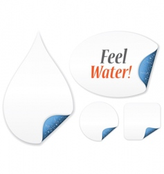 feel water vector image