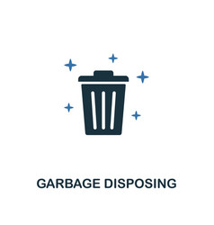 garbage disposing icon creative two colors design vector image