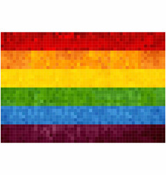 Gay pride grunge mosaic flag vector