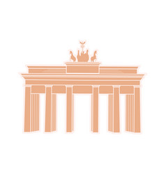 great triumphal arch germany travel sticker vector image