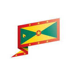 Grenada flag on a white vector