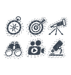 hand drawn sets on white vector image