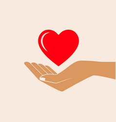 hand giving love symbol vector image