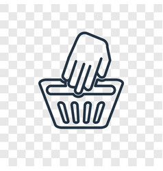 hand wash concept linear icon isolated on vector image