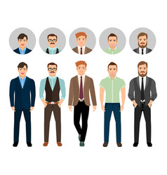 Handsome men dressed in business style vector