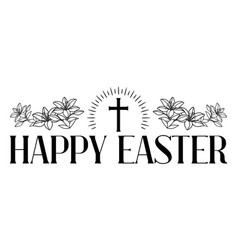 happy easter concept cross vector image
