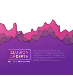 ilusion of depth wavy pattern background vector image