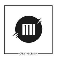 Initial letter mi logo template design vector