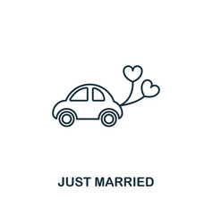 just married outline icon premium style design vector image