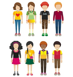 Kids with no faces vector