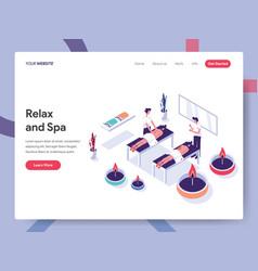 landing page template relax and spa concept vector image