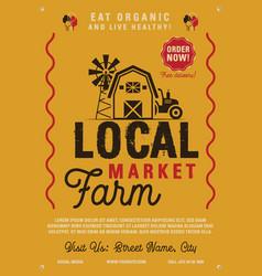Local farm market flyer a4 format farm fresh vector