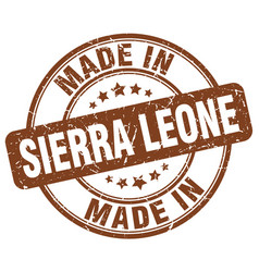 made in sierra leone brown grunge round stamp vector image