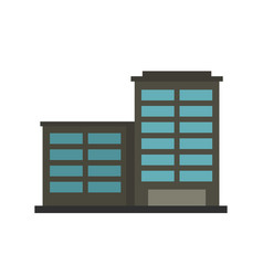Manufacturing factory building icon flat style vector