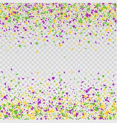Mardi gras carnival confetti seamless background vector