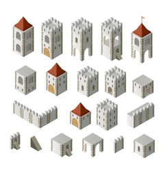 Medieval buildings vector image