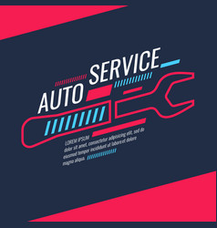 modern auto service poster vector image