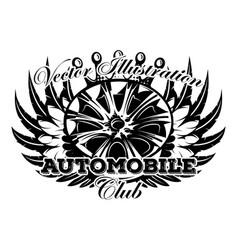 Monochrome with wheel car drive vector