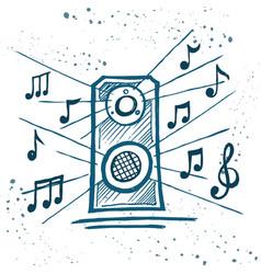 Music speakers play music vector