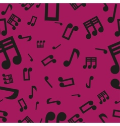 Musical Notes Seamless Pattern Pink vector image