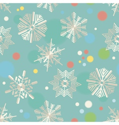 paper snowflakes seamless pattern vector image vector image