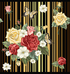 pattern with roses vector image