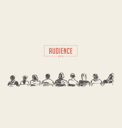 People sitting audience lecture hall sketch vector