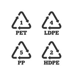 Pet ld-pe and pp polyethylene terephthalate vector