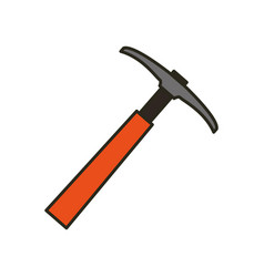 pickaxe tool construction vector image