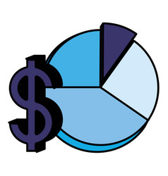 pie chart design vector image
